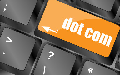 dot com button on computer keyboard key