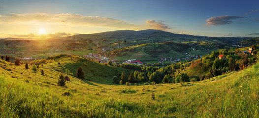 Sunset in  mountains landscape. Polana - Slovakia