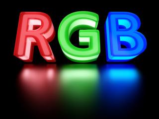 RGB color scheme sign