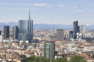 Vista panoramica della città di Milano