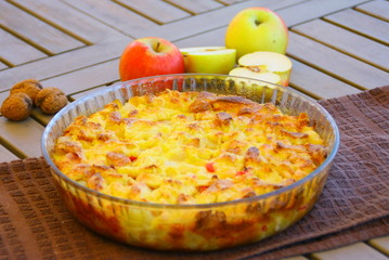 gratin de fruits ,gâteau