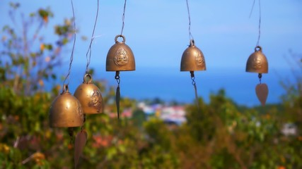 Small Buddhistic Bells in Thai Temple