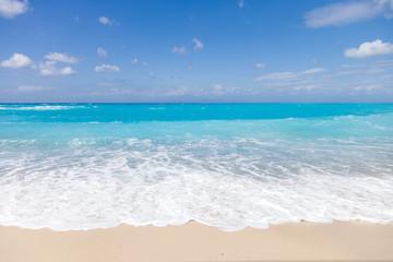 wild beach of the island of Lefkada