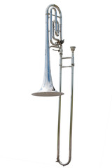 Portrait of a silver Trombone