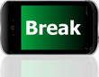 smart phone with break word
