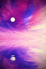 surreal landscape of moon. Unreal landscape