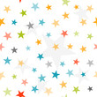 Colorful stars seamless background