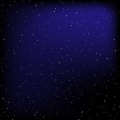 Night sky vector background