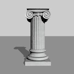 Stone column - 3D render