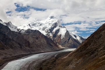 Durung Glacier near Pensi La pass on Zanskar road