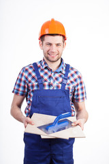 Portrait of a young male tiler