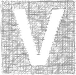 Freehand Typography Letter V
