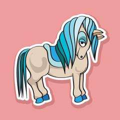 pretty horse sticker