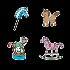 stickers with horses