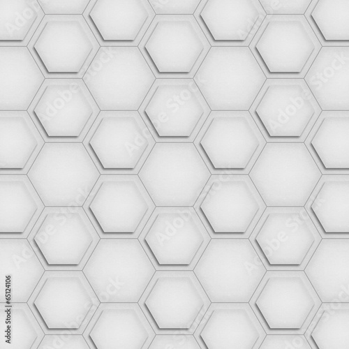 Fotobehang Kunstmatig paper cut of soccer, football texture is black and white hexagon