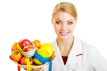 Doctor dietitian recommending healthy food. Diet.