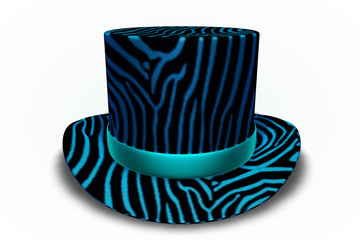 Blue Zebra Top Hat