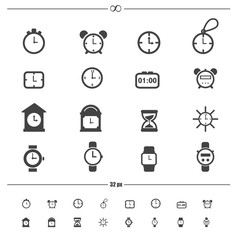 clocks icons.vector eps10