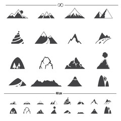 Mountain icons .vector eps10