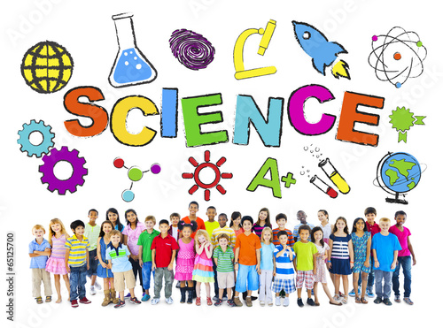 Group of Children with Science Concept - 65125700