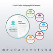 Circle Color Infographic Element
