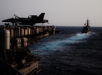 View from an aircraft carrier