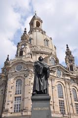 Dresden - Lutherdenkmal vor der Frauenkirche