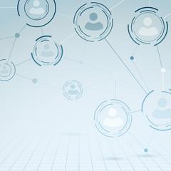 Social communication structure concept