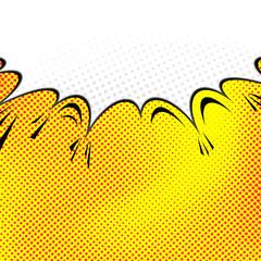 Pop-art comic speech bubble background