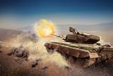 Heavy armor in the field of battle - 65129347
