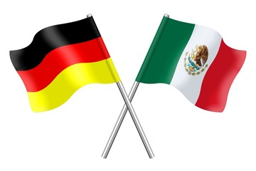 Flags : Germany and Mexico