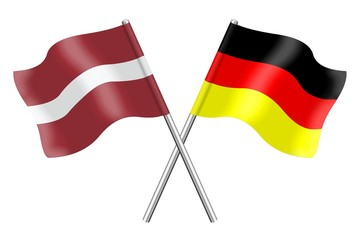 Flags : Latvia and Germany