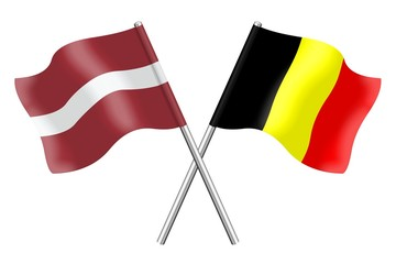 Flags : Latvia and Belgium