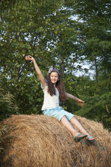 Girl in the farm
