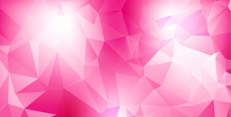 Pink geometric background, vector illustration
