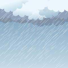Rain as a background, vector