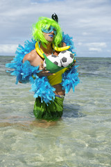 Brazilian Soccer Ball Football Drag Queen