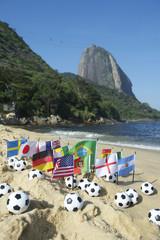 Footballs International Flags Rio de Janeiro Beach