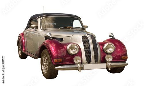 Foto op Plexiglas Vintage cars pink Oldtimer, Classic Car, Cabriolet