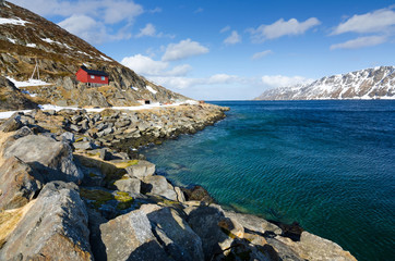 Norwegian sea bay in April