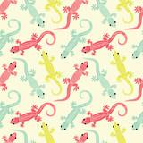 Fototapety Lizards seamless pattern