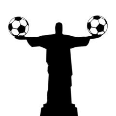 WM 2014, Statue mit Fußbällen, symbolisch
