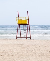 Observation tower for lifeguards