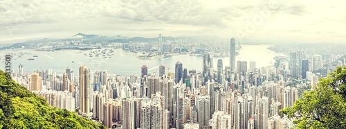 panorama of hong kong ,China