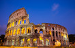 The Coliseum at night in Rome, Italy