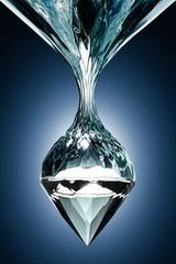 diamond bullet trough the water
