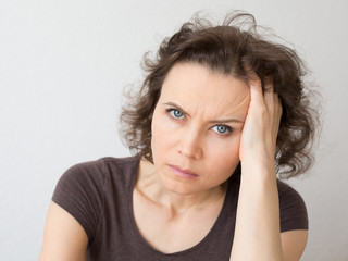 Woman thinking about seriously