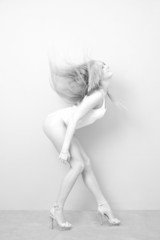 Portrait of a woman in bodysuit