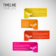 Infographic timeline report template made from colorful papers