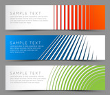 Fototapety Simple colorful horizontal banners